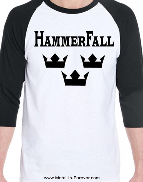 HAMMERFALL (ハンマーフォール) 3 CROWNS 「トリプル・クラウン」 ラグラン七分袖Tシャツ