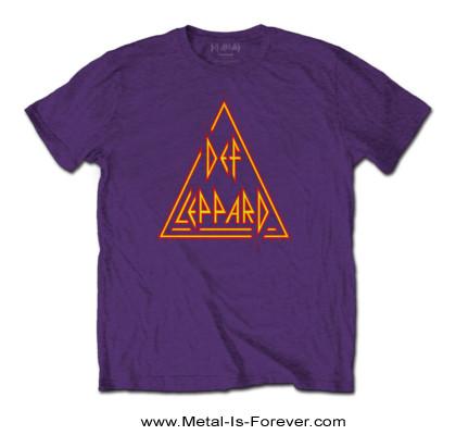 DEF LEPPARD (デフ・レパード) CLASSIC TRIANGLE 「クラシック・トライアングル」 Tシャツ(紫)