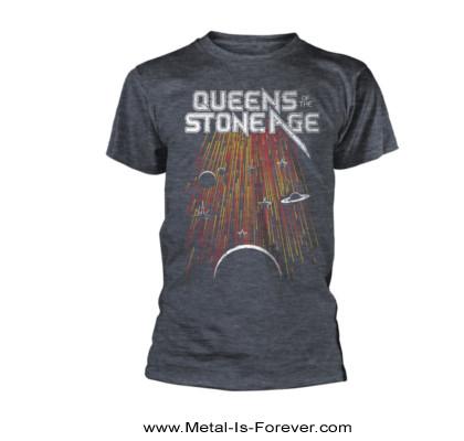 QUEENS OF THE STONE AGE (クイーンズ・オブ・ザ・ストーン・エイジ) METEOR SHOWER 「メテオ・シャワー」 Tシャツ(ヘザーグレー)