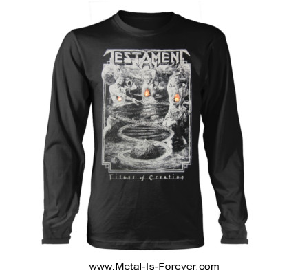 TESTAMENT (テスタメント) TITANS OF CREATION 「タイタンズ・オブ・クリエイション」 2020年ヨーロッパ・ツアー 長袖Tシャツ