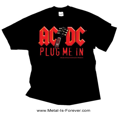 AC/DC (エーシー・ディーシー) PLUG ME IN 「プラグ・ミー・イン」 ウィズ・アンガス・ヤング Tシャツ