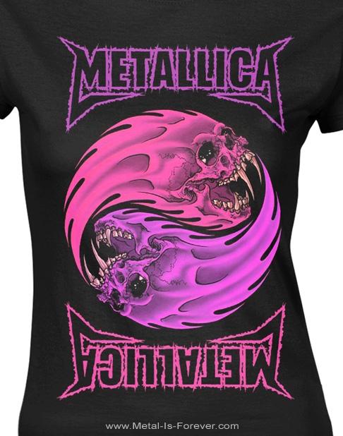 METALLICA (メタリカ) YIN YANG 「イン・ヤン -陰陽- 」 パープル レディースTシャツ