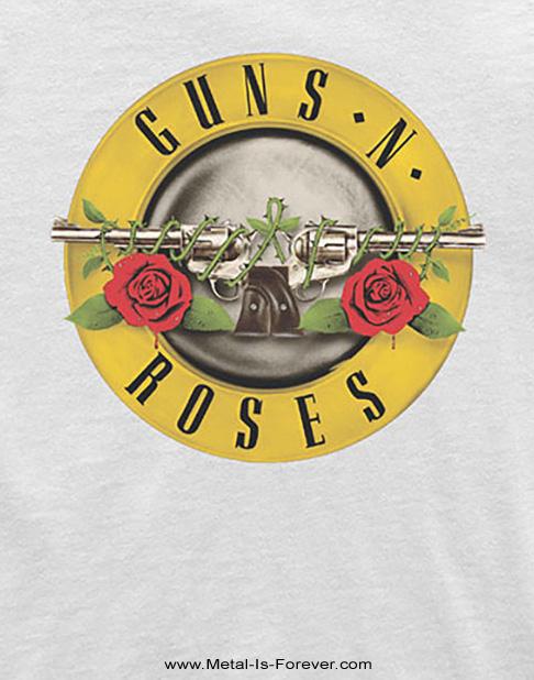 GUNS N' ROSES (ガンズ・アンド・ローゼズ) CLASSIC LOGO 「クラシック・ロゴ」 キッズ Tシャツ(白)ver.2