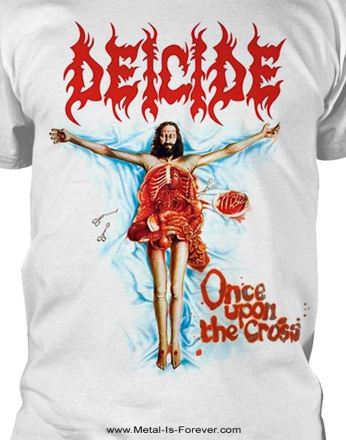 DEICIDE (ディーサイド) ONCE UPON THE CROSS 「ワンス・アポン・ザ・クロス」 Tシャツ(白)