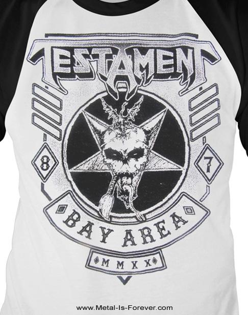 TESTAMENT (テスタメント) BAY AREA 87 「ベイ・エリア・87」 ラグラン七分袖Tシャツ(白)