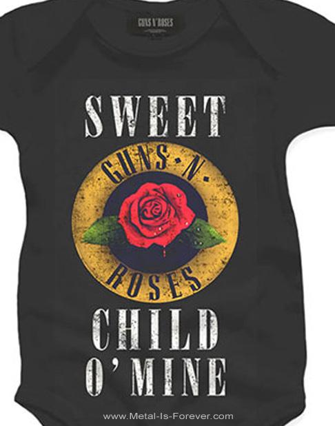 GUNS N' ROSES (ガンズ・アンド・ローゼズ) SWEET CHILD O' MINE 「スウィート・チャイルド・オブ・マイン」 ローズ ベビー服