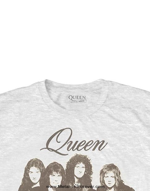 QUEEN (クイーン) BOHEMIAN RHAPSODY 「ボヘミアン・ラプソディ」 ポートレート Tシャツ(白)