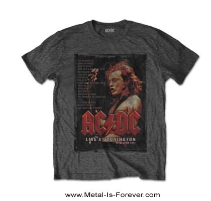 AC/DC -エーシー・ディーシー- LIVE AT DONINGTON 「ライヴ・アット・ドニントン」 Tシャツ(チャコール・グレー)