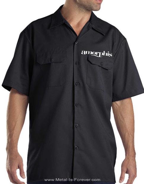 AMORPHIS -アモルフィス- HAMMER LOGO 「ハンマー・ロゴ」 半袖ワークシャツ