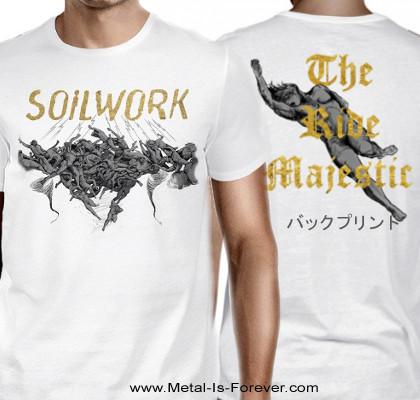 SOILWORK -ソイルワーク- THE RIDE MAJESTIC 「ザ・ライド・マジェスティック」 Tシャツ(白)