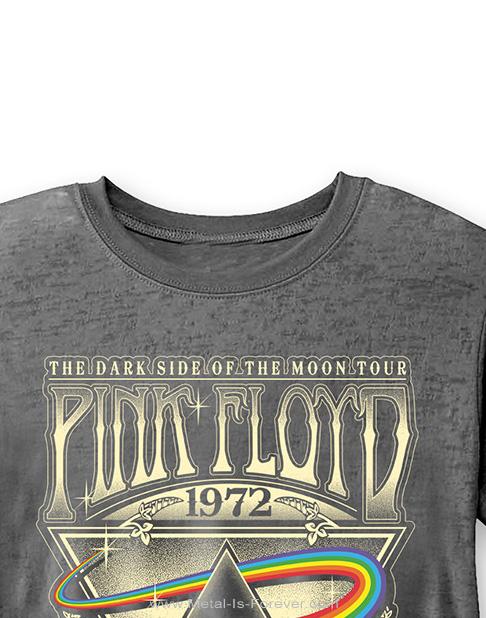 PINK FLOYD (ピンク・フロイド) LIVE AT CARNEGIE HALL POSTER 1972 「ライヴ・アット・カーネギー・ホール・ポスター・1972」 バーンアウト Tシャツ(チャコールグレー)