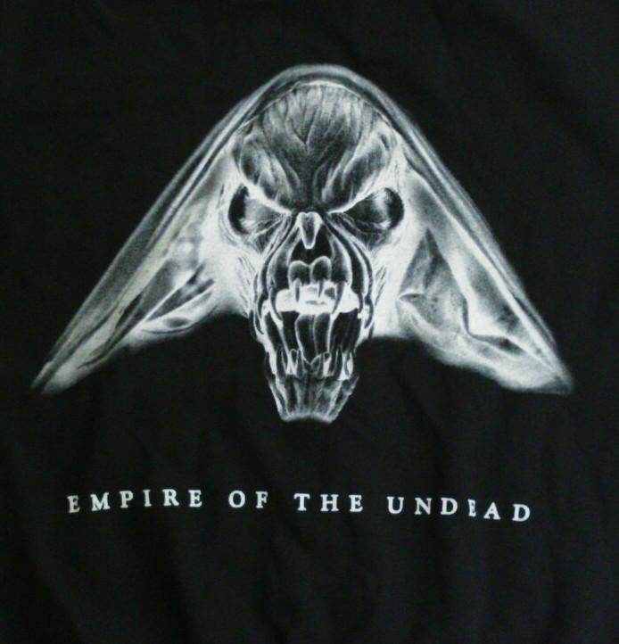 【在庫有り商品】GAMMA RAY -ガンマ・レイ- EMPIRE OF THE UNDEAD 「エンパイア・オブ・ジ・アンデッド」 ジップ・パーカー Sサイズ