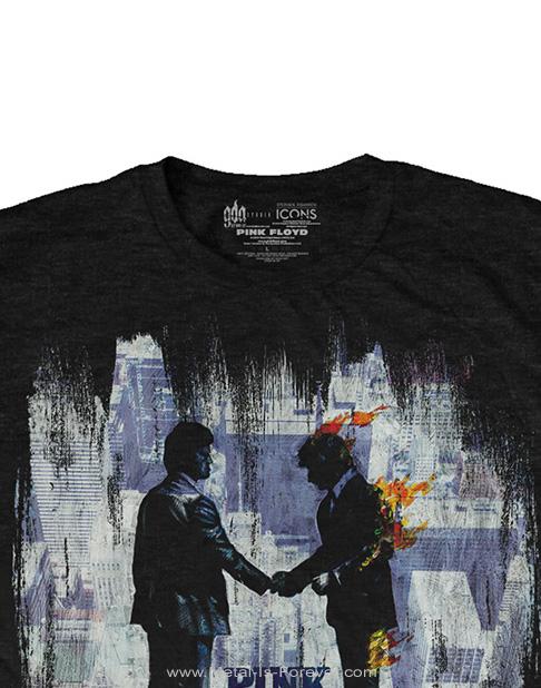 PINK FLOYD -ピンク・フロイド- WISH YOU WERE HERE 「炎〜あなたがここにいてほしい」 ペインティング Tシャツ