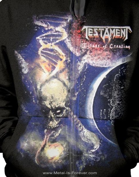 TESTAMENT (テスタメント) TITANS OF CREATION 「タイタンズ・オブ・クリエイション」 2020年ヨーロッパ・ツアー ジップ・パーカー