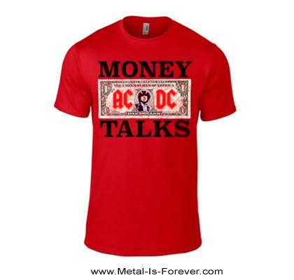 AC/DC (エーシー・ディーシー) MONEY TALKS 「マネートークス」 Tシャツ(赤)