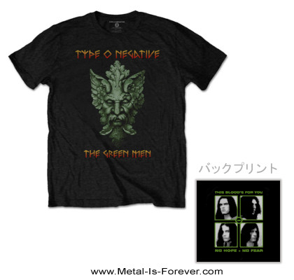 TYPE O NEGATIVE (タイプ・オー・ネガティヴ) GREEN MAN 「グリーン・マン」 Tシャツ