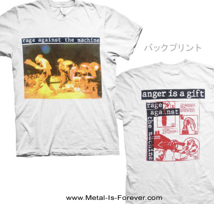 RAGE AGAINST THE MACHINE -レイジ・アゲインスト・ザ・マシーン- GIFT 「ギフト」 Tシャツ(白)