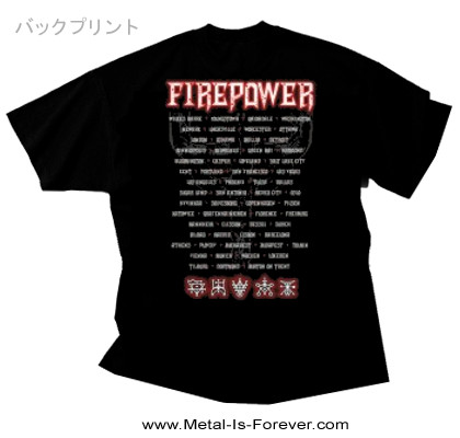 JUDAS PRIEST -ジューダス・プリースト- FIREPOWER 「ファイアーパワー」 2018年ツアー Tシャツ