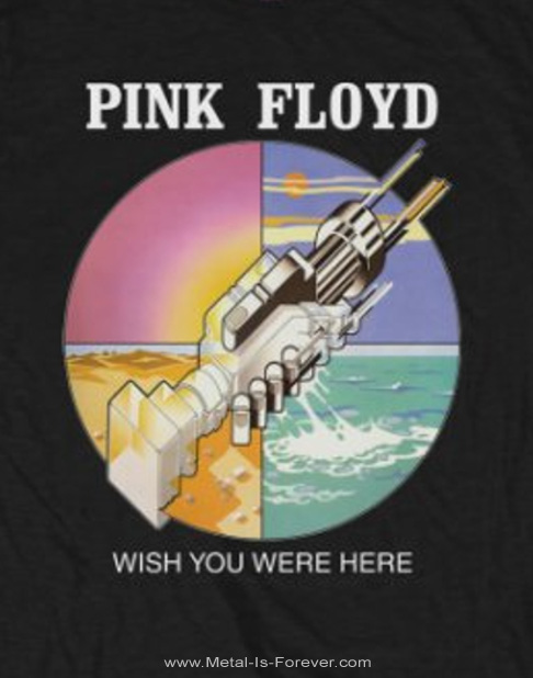 PINK FLOYD -ピンク・フロイド- WISH YOU WERE HERE 「炎〜あなたがここにいてほしい」 サークル・アイコン Tシャツ