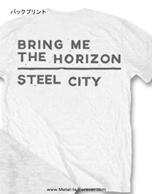 BRING ME THE HORIZON (ブリング・ミー・ザ・ホライズン) DISTORTED 「ディストーテッド」 Tシャツ(白)