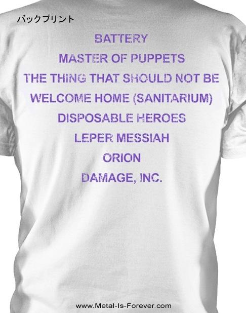 METALLICA (メタリカ) MASTER OF PUPPETS 「メタル・マスター」 Tシャツ(白)