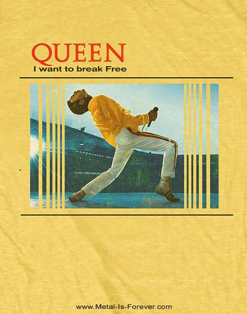QUEEN (クイーン) BREAK FREE 「ブレイク・フリー」 Tシャツ(黄色)