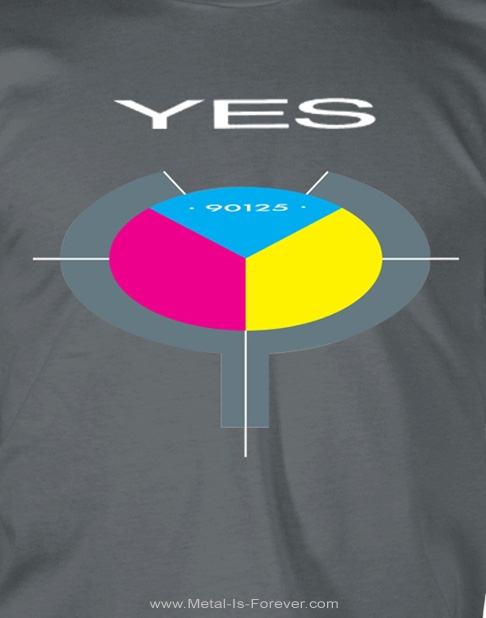 YES (イエス) 90125 「ロンリー・ハート」 Tシャツ(チャコールグレー)
