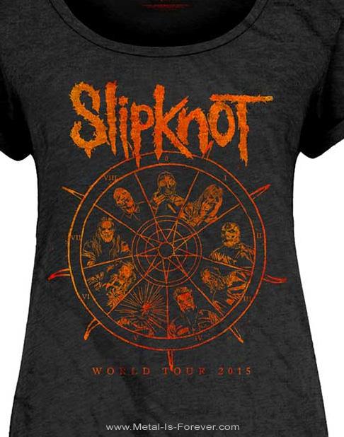 SLIPKNOT (スリップノット) THE WHEEL 「ザ・ホイール」 レディースTシャツ