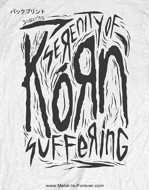KORN -コーン- SCRATCHED TYPE 「スクラッチ・タイプ」 Tシャツ(白)