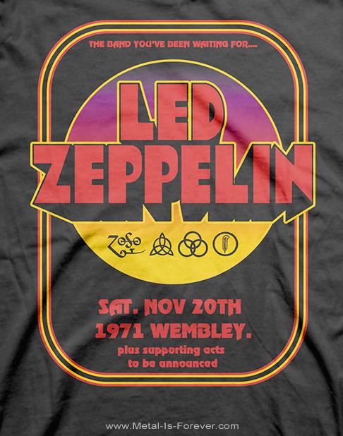 LED ZEPPELIN (レッド・ツェッペリン) 1971 WEMBLEY 「1971年・ウェンブリー」 Tシャツ