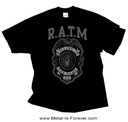 RAGE AGAINST THE MACHINE -レイジ・アゲインスト・ザ・マシーン- GREY POLICE BADGE 「グレー・ポリス・バッジ」 Tシャツ