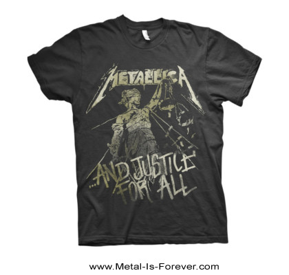 METALLICA -メタリカ- ...AND JUSTICE FOR ALL 「メタル・ジャスティス」 ヴィンテージ・スタイル Tシャツ