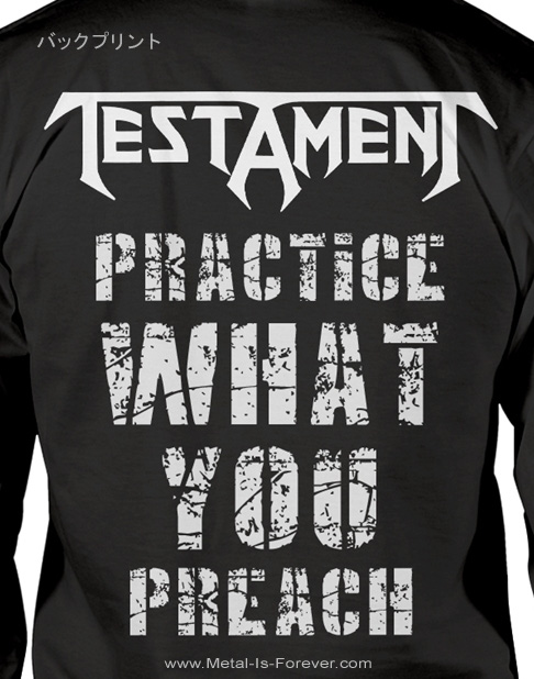 TESTAMENT (テスタメント) PRACTICE WHAT YOU PREACH 「プラクティス・ホワット・ユー・プリーチ」 長袖Tシャツ