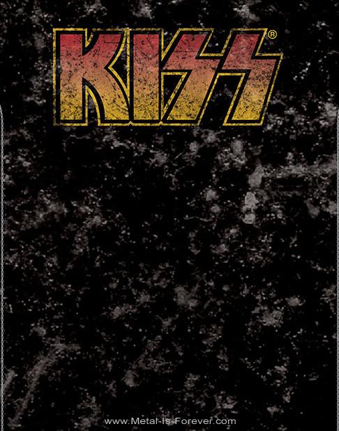 KISS (キッス) LOGO 「ロゴ」 スノーウォッシュ Tシャツ