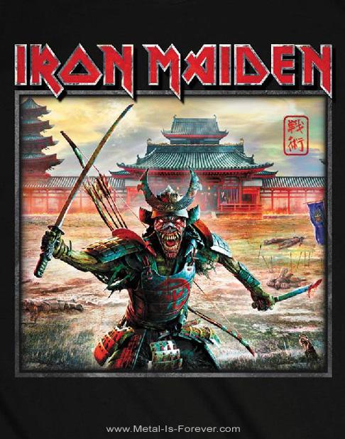 IRON MAIDEN (アイアン・メイデン) SENJUTSU EDDIE WARRIOR 「戦術 - 侍エディ」 城 Tシャツ