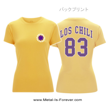 RED HOT CHILI PEPPERS -レッド・ホット・チリ・ペッパーズ- LOS CHILI 「ロス・チリ」 レディース Tシャツ(イエロー)