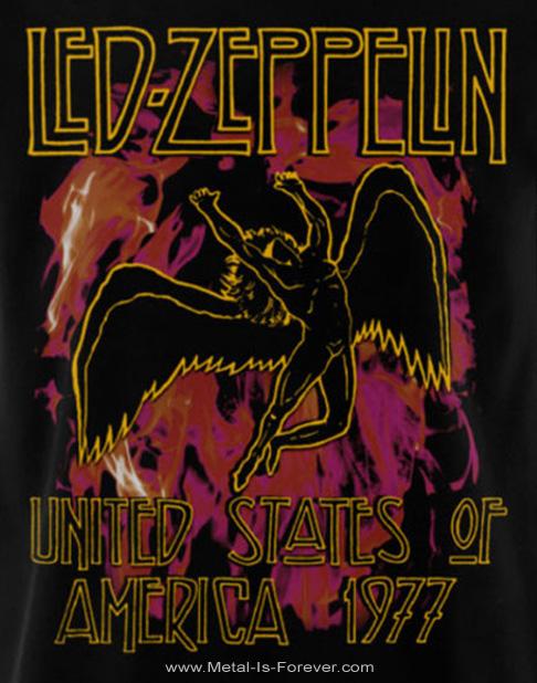 LED ZEPPELIN (レッド・ツェッペリン) BLACK FLAMES 「ブラック・フレイムス」 レディースTシャツ