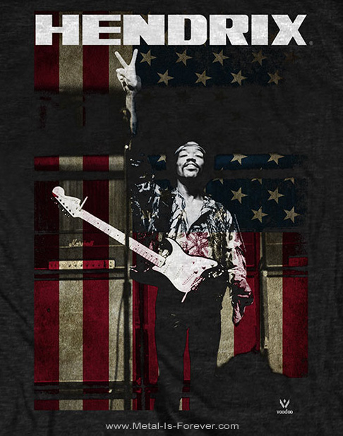 JIMI HENDRIX (ジミ・ヘンドリックス) PEACE FLAG 「ピース・フラッグ」 Tシャツ