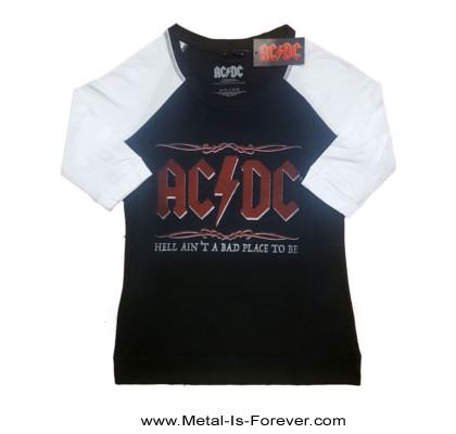AC/DC (エーシー・ディーシー) HELL AIN'T A BAD PLACE TO BE 「地獄は楽しい所だぜ」 ラグラン七分袖Tシャツ