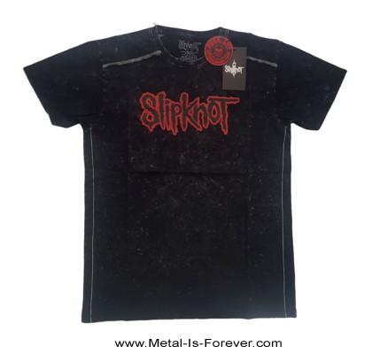 SLIPKNOT (スリップノット) LOGO 「ロゴ」 スノーウォッシュ Tシャツ
