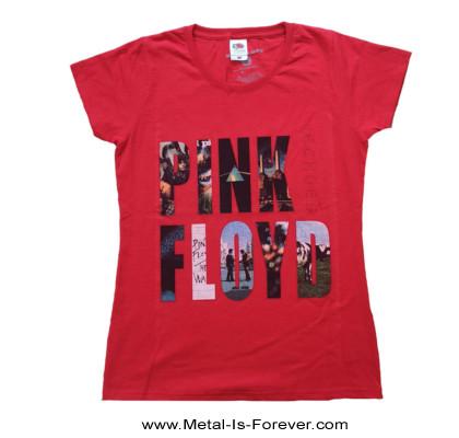 PINK FLOYD (ピンク・フロイド) ECHOES 「エコーズ〜啓示」 レディースTシャツ(赤)