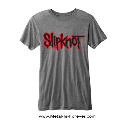 SLIPKNOT -スリップノット- LOGO  「ロゴ」  バーンアウトTシャツ(グレー)