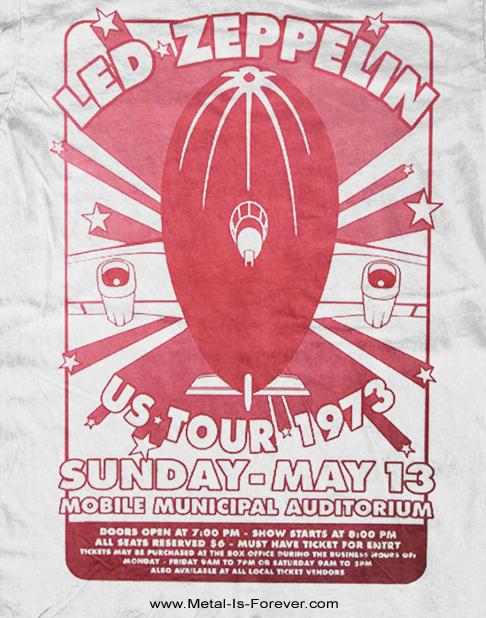 LED ZEPPELIN (レッド・ツェッペリン) MOBILE MUNICIPAL 「モビール・ミュニシパル」 Tシャツ(白)