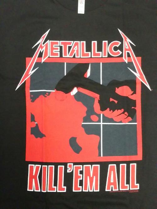 【在庫有り商品】METALLICA -メタリカ- KILL 'EM ALL 「キル・エム・オール〜血染めの鉄槌(ハンマー)」 Tシャツ Mサイズ