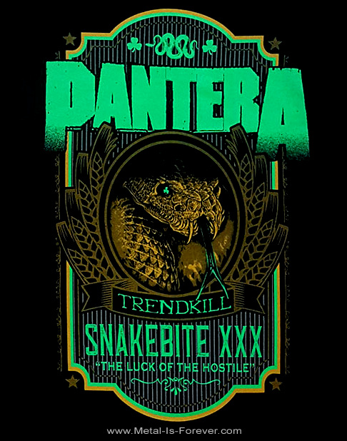 PANTERA (パンテラ) SNAKEBITE XXX LABEL 「スネークバイト・XXX・レーベル」 ラグラン七分袖Tシャツ