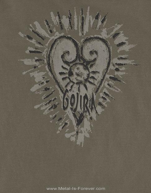 GOJIRA (ゴジラ) FORTITUDE HEART 「フォーチュード・ハート」 Tシャツ(ダスト・カラー)