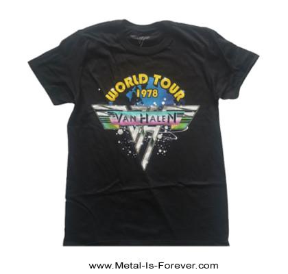 VAN HALEN  (ヴァン・ヘイレン) WORLD TOUR '78 「ワールド・ツアー・1978」 Tシャツ