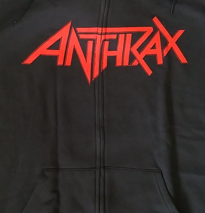 【在庫有り商品】ANTHRAX -アンスラックス- WORSHIP MUSIC HANDS 「ワーシップ・ミュージック・ハンド」 ジップ・パーカー Lサイズ
