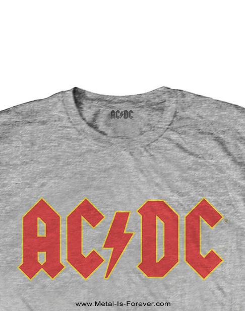 AC/DC (エーシー・ディーシー) LOGO 「ロゴ」 キッズ Tシャツ(ヘザー・グレー)