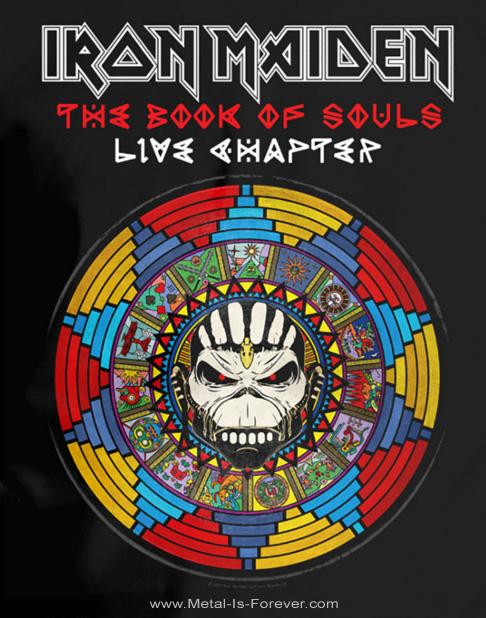 IRON MAIDEN -アイアン・メイデン- BOOK OF SOULS LIVE CHAPTER 「魂の書〜ザ・ブック・オブ・ソウルズ〜ライヴ」 Tシャツ